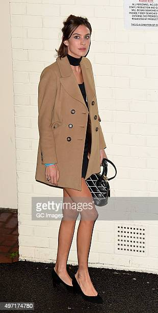 Alexa Chung leaves Fountain Studio following Saturday's X Factor live show on November 14 2015 in London England