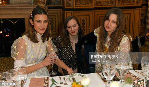 Alexa Chung Lou Hayter and Valentine Fillol Cordier attend the L'Orla Resort SS18 launch dinner at The Lanesborough Hotel in association with...