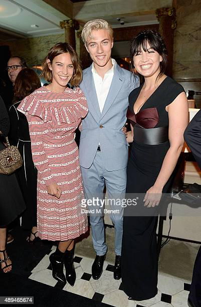 Alexa Chung Lucky Blue Smith and Daisy Lowe attend the The Business Of Fashion #BoF500 Gala Dinner Party at The London EDITION Hotel on September 21...
