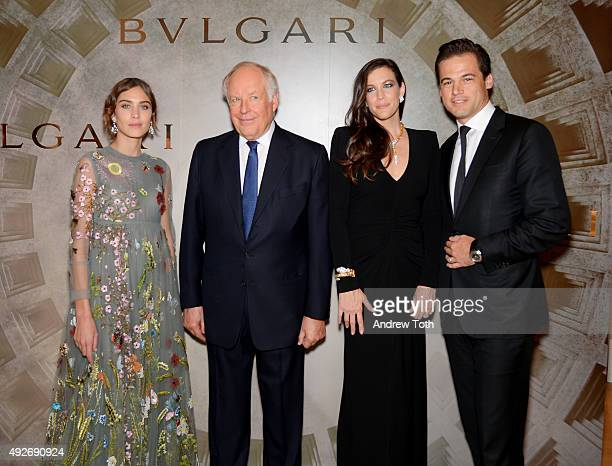Alexa Chung Nicola Bulgari Liv Tyler and Daniel Paltridge attend Bvlgari And Rome Eternal Inspiration Opening Night at Bulgari Fifth Avenue on...