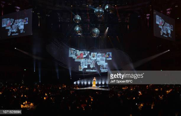 Alexa Chung on stage during The Fashion Awards 2018 In Partnership With Swarovski at Royal Albert Hall on December 10 2018 in London England
