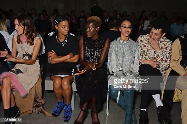 Alexa Chung Pippa BennettWarner Sheila Atim FKA Twigs and Matthew Josephs attend the Christopher Kane front row during London Fashion Week September...