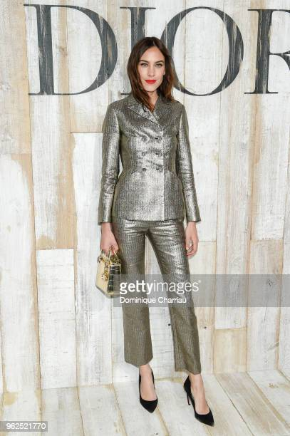 Alexa Chung poses at a photocall during Christian Dior Couture S/S19 Cruise Collection on May 25 2018 in Chantilly France