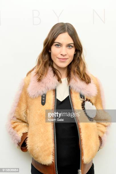 Alexa Chung poses backstage for Noon By Noor during New York Fashion Week The Shows at Gallery II at Spring Studios on February 8 2018 in New York...