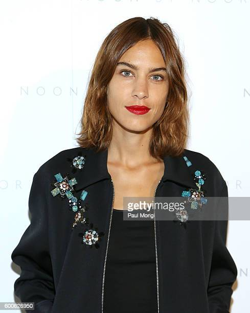 Alexa Chung poses for a photo backstage at the Noon By Noor fashion show during New York Fashion Week The Shows September 2016 at The Gallery...