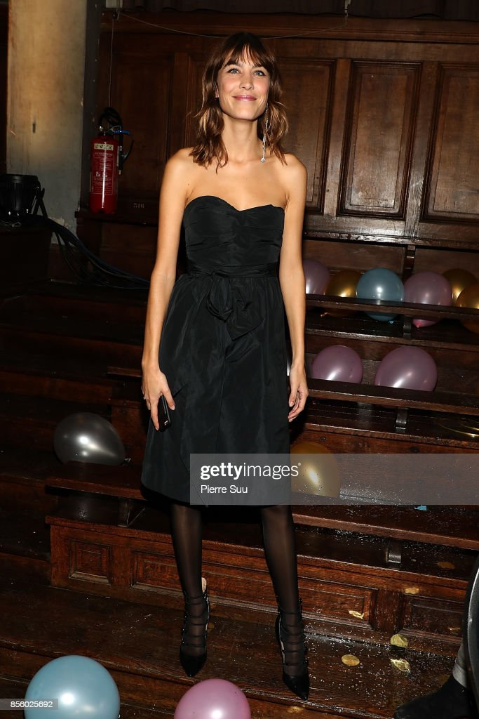 Alexa Chung Presents 'Prom Gone Wrong' Collection at Avenue Trudaine as part of the Paris Fashion Week Womenswear Spring/Summer 2018 on September 30, 2017 in Paris, France.