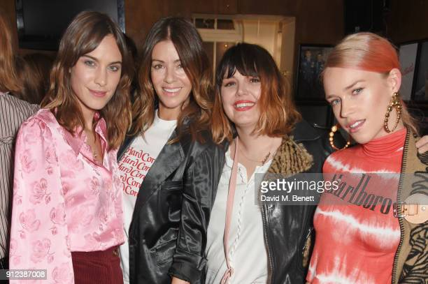 Alexa Chung Sara Macdonald Mairead Nash and Mary Charteris attend the ALEXACHUNG Fantastic collection party on January 30 2018 in London England