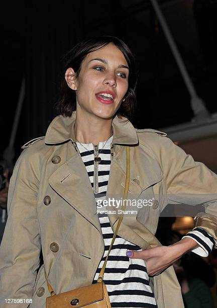 Alexa Chung seen at the front row at the Unique show at London Fashion Week Autumn/Winter 2011 on February 20 2011 in London England