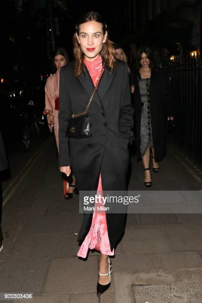 Alexa Chung seen at the Vogue and Tiffany Co party at Annabel's club after attending the EE British Academy Film Awards at the Royal Albert Hall on...