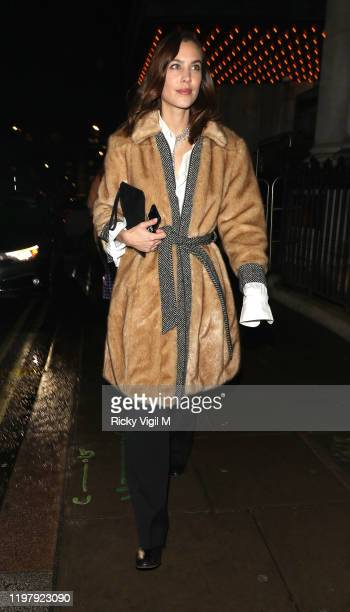 Alexa Chung seen attending LFW a/w 2020: GQ Dinner on January 06, 2020 in London, England.