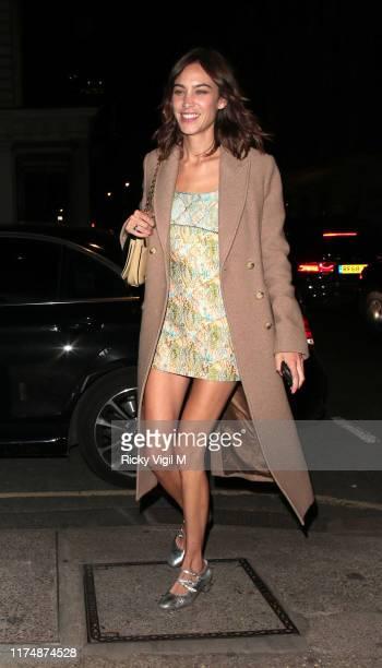 Alexa Chung seen attending Victoria Beckham dinner during LFW September 2019 on September 15 2019 in London England