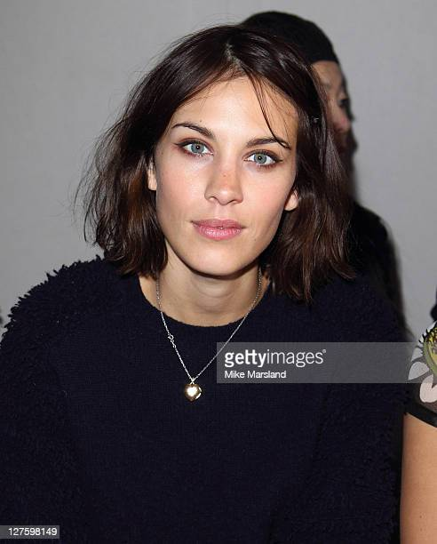 Alexa Chung seen in the front row at the Christopher Kaneshow at London Fashion Week Autumn/Winter 2011 on February 21 2011 in London England