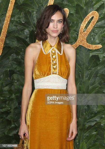 Alexa Chung seen on the red carpet during the Fashion Awards 2018 at the Royal Albert Hall Kensington in London
