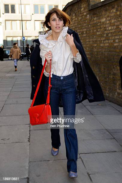 Alexa Chung sighting at London Fashion Week Autumn/Winter 2012 on February 19 2012 in London England