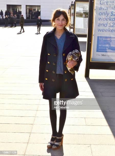 Alexa Chung sighting on February 9 2012 in New York City