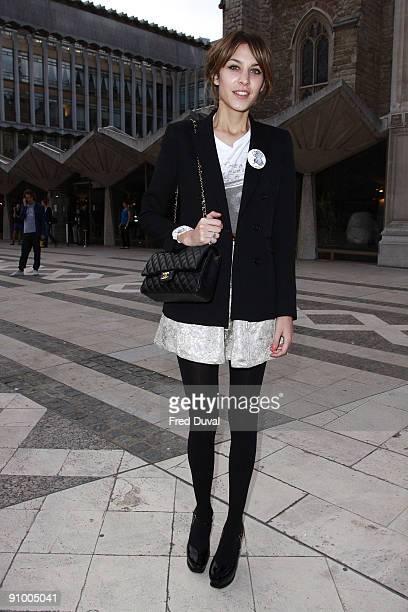 Alexa Chung sighting on September 21, 2009 in London, England.