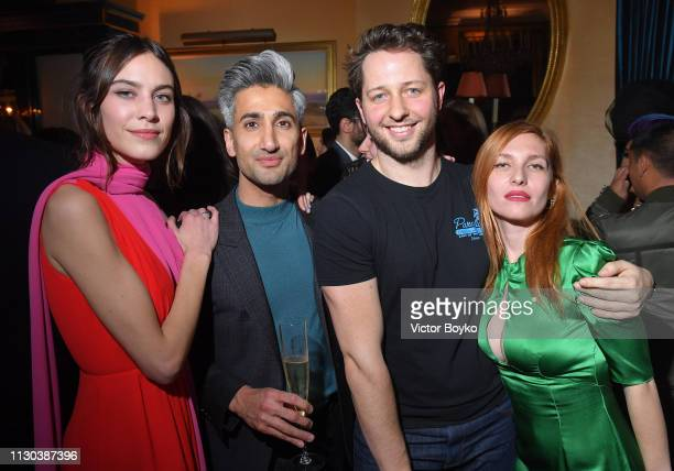 Alexa Chung Tan France Derek Blasberg and Josephine de La Baume attend the Victoria Beckham x YouTube Fashion Beauty After Party at London Fashion...