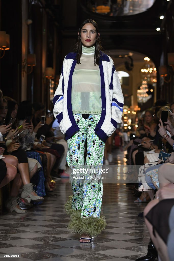 alexa-chung-walks-the-runway-during-miu-miu-2019-cruise-collection-picture-id988256938