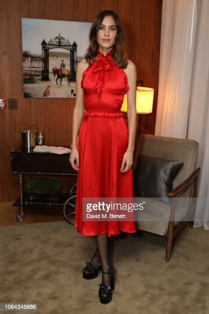 Alexa Chung wearing ALEXACHUNG attends Alexa Chung's CHUNGSGIVING dinner to celebrate Thanksgiving and the launch of her exclusive ALEXACHUNG holiday...