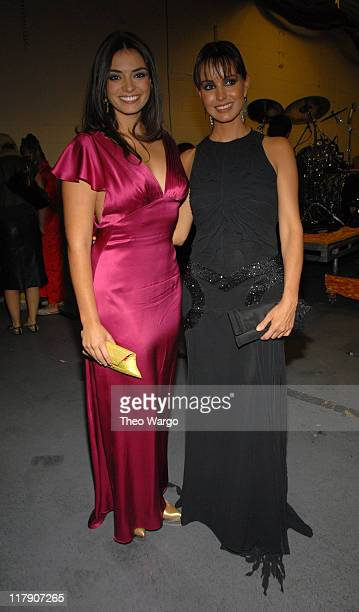 Alexa Damion and Alejandra Barros during The 7th Annual Latin GRAMMY Awards Backstage and Audience at Madison Square Garden in New York City New York...