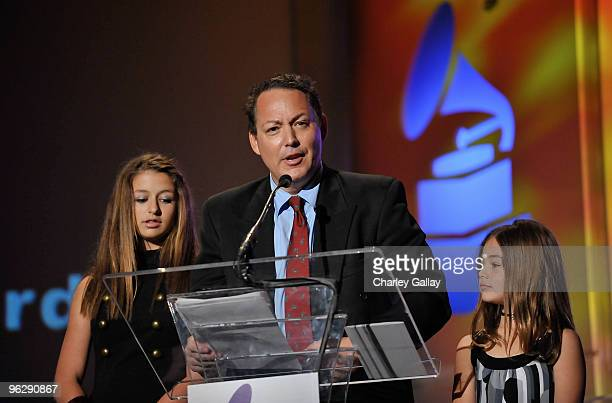 Alexa Darin Dodd Darin and Olivia Darin accept the Lifetime Achievement Award on behalf of the late Bobby Darren at the 52nd Annual GRAMMY Awards...