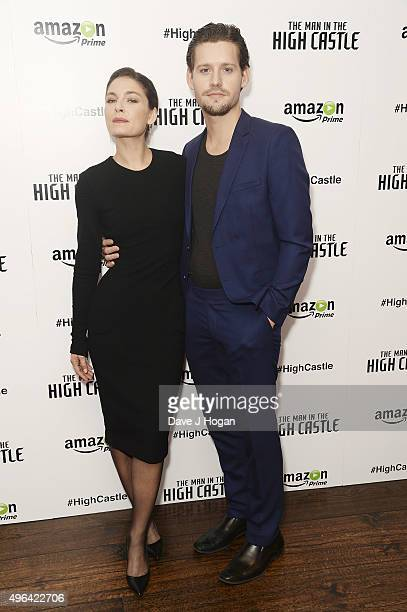 Alexa Davalos and Luke Kleintank attend the European Premiere of the second episode of 'The Man In The High Castle' at The Soho Hotel on November 9...