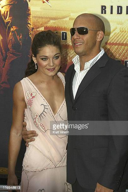 Alexa Davalos and Vin Diesel during The Chronicles of Riddick Berlin Premiere at Zoo Palace in Berlin Berlin Germany