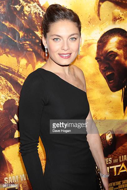 Alexa Davalos arrives at the world premiere of Clash Of The Titans held at the Empire Leicester Square on March 29 2010 in London England