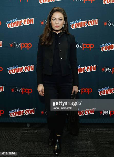 Alexa Davalos attends Amazon's production of 'The Man In The High Castle' during the New York Comic Con day 3 on October 8 2016 in New York City