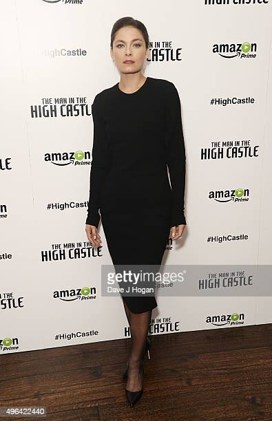 Alexa Davalos attends the European Premiere of the second episode of 'The Man In The High Castle' at The Soho Hotel on November 9 2015 in London...