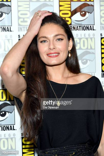 Daniel Percival Isa Dick Hackett Alexa Davalos Rufus Sewell and Jason O'Mara attend the 'The Man In The High Castle' Press Line during ComicCon...