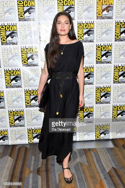 Alexa Davalos attends the 'The Man In The High Castle' Press Line during ComicCon International 2018 at Hilton Bayfront on July 21 2018 in San Diego...