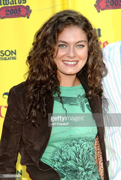 Alexa Davalos during 2005 Teen Choice Awards - Arrivals at Gibson Amphitheater in Universal City, California, United States.