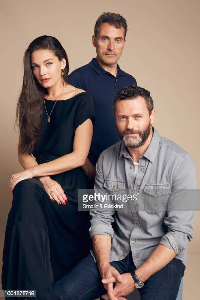 Alexa Davalos Rufus Sewell and Jason O'Mara from Amazon's 'The Man in the High Castle' pose for a portrait at the Getty Images Portrait Studio...