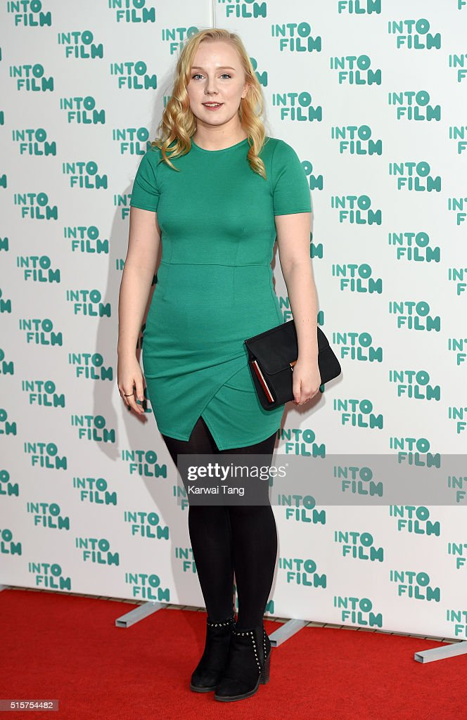 Alexa Davies arrives for the 2016 Into Film Awards at Odeon Leicester Square on March 15, 2016 in London, England.