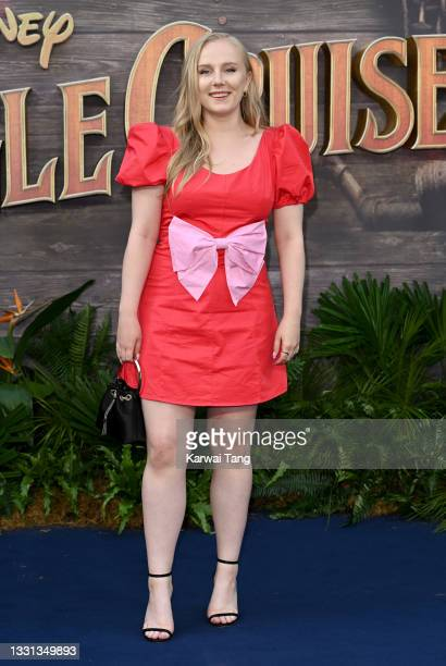 """Alexa Davies attends Disney's """"Jungle Cruise"""" UK premiere at Cineworld Leicester Square on July 29, 2021 in London, England."""