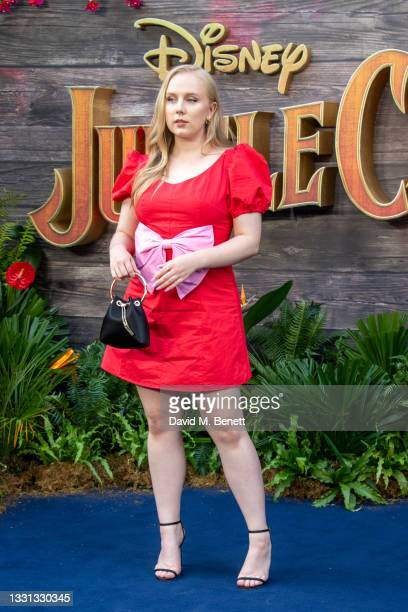 """Alexa Davies attends the London Premiere of Disney's """"Jungle Cruise"""" at Cineworld Leicester Square on July 29, 2021 in London, England."""