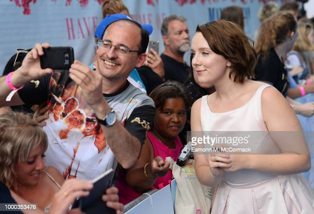 Alexa Davies attends the 'Mamma Mia Here We Go Again' world premiere at the Eventim Apollo Hammersmith on July 16 2018 in London England