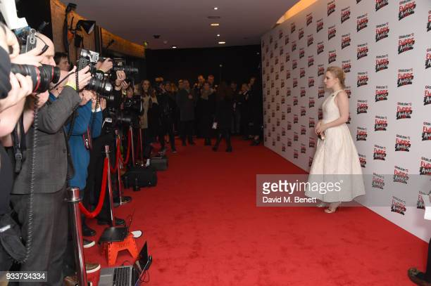 Alexa Davies attends the Rakuten TV EMPIRE Awards 2018 cocktail reception at The Roundhouse on March 18 2018 in London England