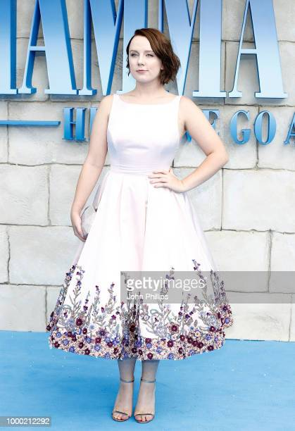 Alexa Davies attends the UK Premiere of 'Mamma Mia Here We Go Again' at Eventim Apollo on July 16 2018 in London England