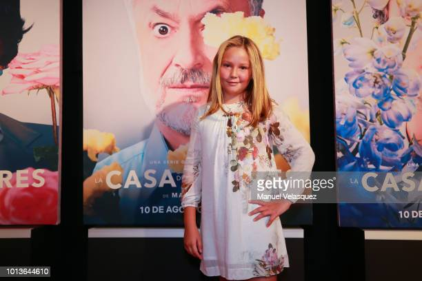 Alexa de Landa poses during the avant premiere of Netflix series 'La Casa de Las Flores' at Cinemex Antara on August 08 2018 in Mexico City Mexico