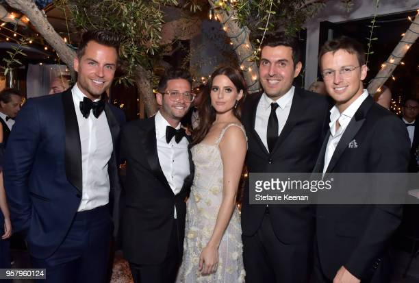 Alexa Dell and Harrison Refoua and guests attend Alexa Dell and Harrison Refoua's Engagement Celebration at Ysabel on May 12 2018 in West Hollywood...