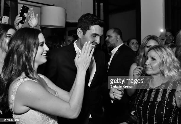 Alexa Dell Harrison Refoua Soraya Refoua and guests attend Alexa Dell and Harrison Refoua's engagement celebration at Ysabel on May 12 2018 in West...