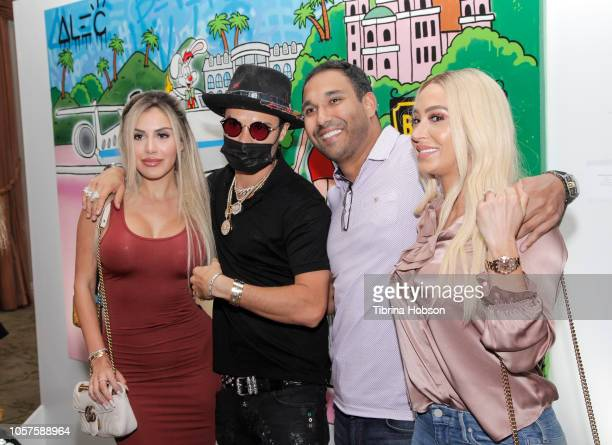 Alexa Dellanos Alec Monopoly and Guests attend the Alec Monopoly Beverly Hills Hotel Capsule Collection unveiling on November 4 2018 in Beverly Hills...