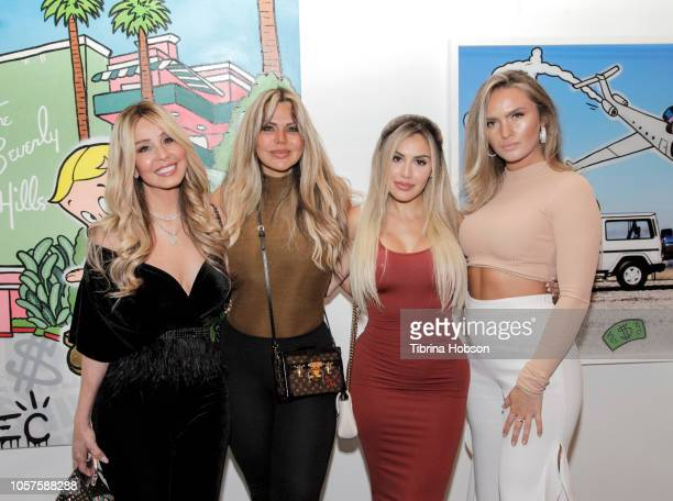 Alexa Dellanos and Guests attend the Alec Monopoly Beverly Hills Hotel Capsule Collection unveiling on November 4 2018 in Beverly Hills California