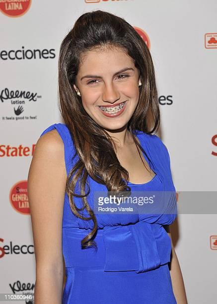 Alexa Dellanos attends the Selecciones Generacion Latina Event at The Fifth on October 2 2008 in Miami Beach Florida