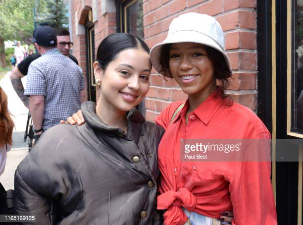 Alexa Demie and Taylor Russell attend the Telluride Film Festival 2019 on August 31 2019 in Telluride Colorado