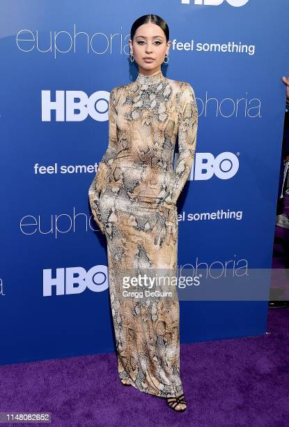 Alexa Demie arrives at the LA Premiere Of HBO's Euphoria at The Cinerama Dome on June 4 2019 in Los Angeles California