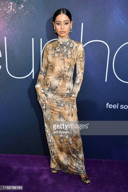 Alexa Demie attends HBO's Euphoria premiere at the Arclight Pacific Theatres' Cinerama Dome on June 04 2019 in Los Angeles California