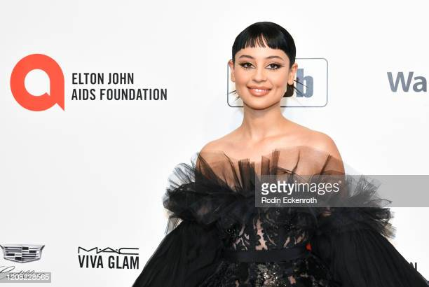 Alexa Demie attends the 28th Annual Elton John AIDS Foundation Academy Awards Viewing Party Sponsored By IMDb And Neuro Drinks on February 09 2020 in...